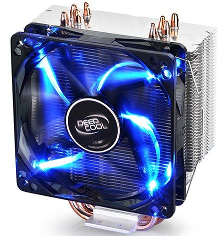 DeepCool GAMMAXX400 *UNI kuler 130W 120mm.Fan 900~1600rpm 74CFM 18~30dBa LGA1156/775/K8/FM/AM 4xpipe
