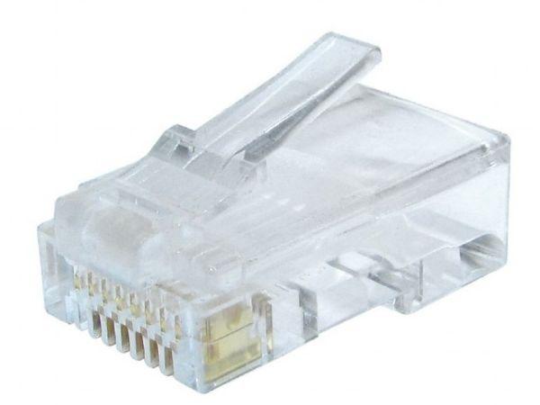 LC-8P8C-002/100 Modular plug 8P8C 30u'' gold plated, CAT6 100 u pakovanju RJ45 / CENA PO PAKOVANJU