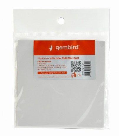 TG-P-01 Gembird Termo podloga za hladjenje CPU/VGA 23g Silver, Therm.cond.>2.0W/m-K, 100x100x1mm