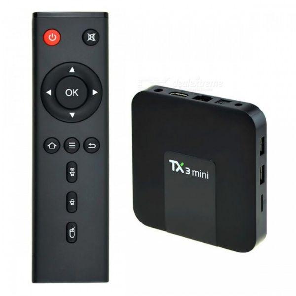 GMB-TX3 Mini Gembird smart TV box S905W quad, 2GB/16GB ROM, Mali450 4K, KODI Android 7.1.2