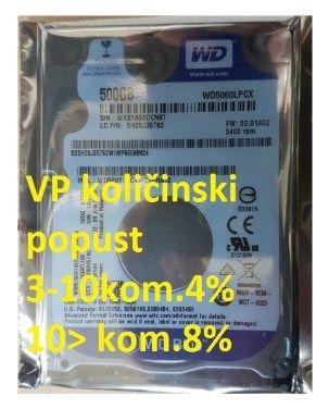 HDD 2.5'' ** 500GB  WD BLUE 7mm 5400RPM 16MB SATA3 WD5000LPCX