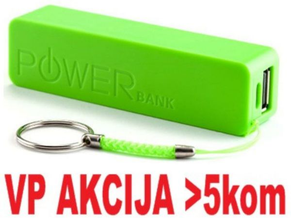 HRD-T19-GR ** Gembird 2600mAh power bank (290) Li-Ion 18650