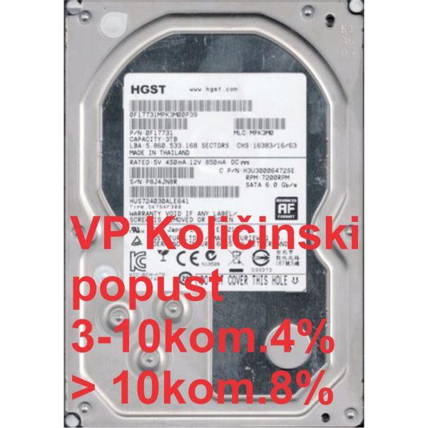 HDD 3.5'' ** 3TB HUS724030ALE641 Hitachi ultrastar 7k4000 24/7, 7200rpm 64mb SATA3