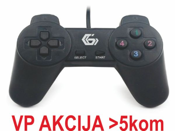JPD-UB-01 ** Gembird USB 2.0 digital gamepad black (190)