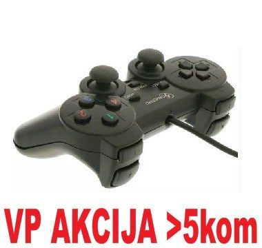 JPD-THRILLERSHOCK-BOX ** Gembird USB 2.0 analog vibration gamepad black(37ky) (375)