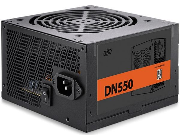 DeepCool DN550 * napajanje 550W 80PLUS, 1x20+4p, 1x 4+4p, 5xsata, 3x big4p 1xPCI-E6+2p, fan120mm4052