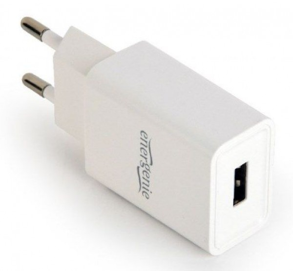 EG-UC2A-03-W Gembird Universal USB charger, 2.1 A, white  FO