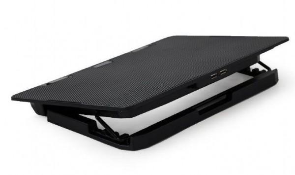 NBS-2F15-02 Gembird hladnjak za laptop, 15.6'' 2x120mm Fan, 2xUSB, 355x255mm, Ergo Stand