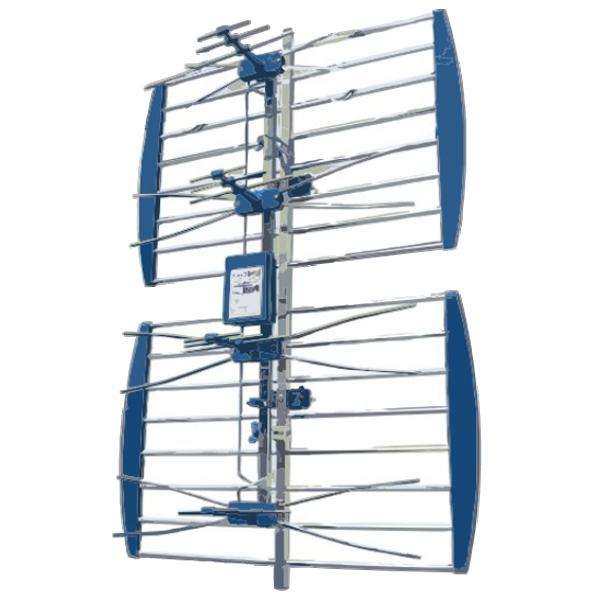 Antena ANT-408AL Spoljna mreasta sa pojacalom, 17-35db, Alu, UHF/VHF/DVB-T2