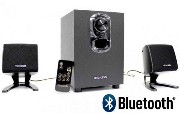 Microlab M-108BT Aktivni drveni zvucnici 2.1 11W RMS(5W, 2x3W) BLUETOOTH , IR daljinski 3.5mm