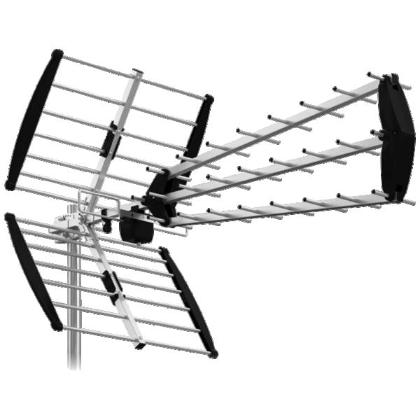 Antena AHD 344 LTE Spoljna Triplex Loga, 25db, 27 elementa,Alu, LTE filter, UHF/VHF/DVB-T2