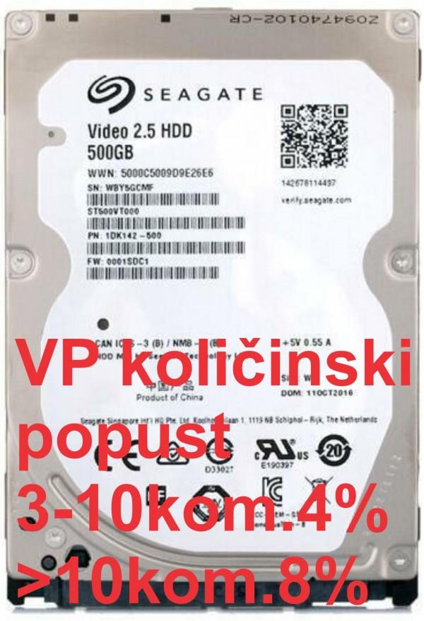 HDD 2.5'' ** 500GB ST500VT000 SEAGATE 7mm 16MB 5400RPM SATA