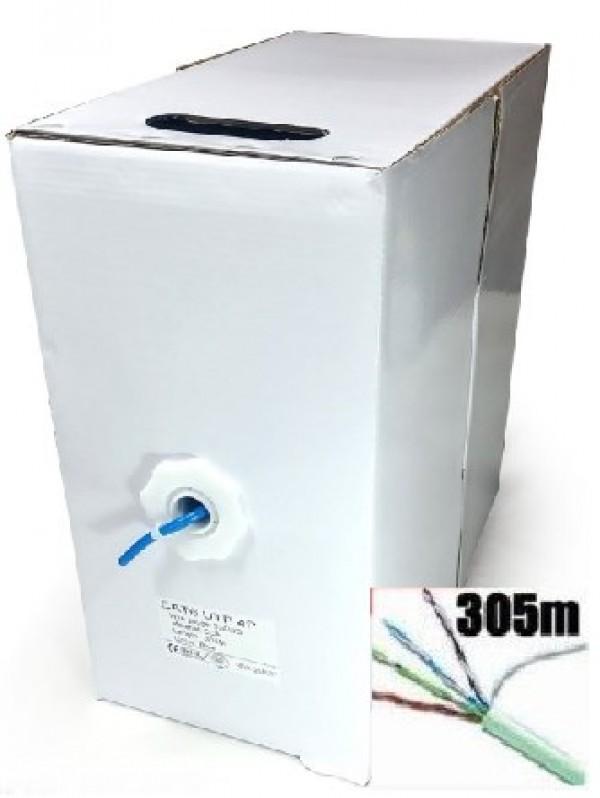 UPC-6004Bor-Solid OEM UTP cat.6e  indoor solid CCA kotur, 305m Blue