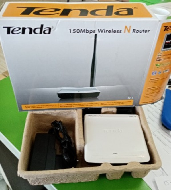OUT-Tenda N3 150N Easy Setup Wireless Ruter, WDS/AP/WPS, 1W/1L, fixed antenna 1x5dBi 18