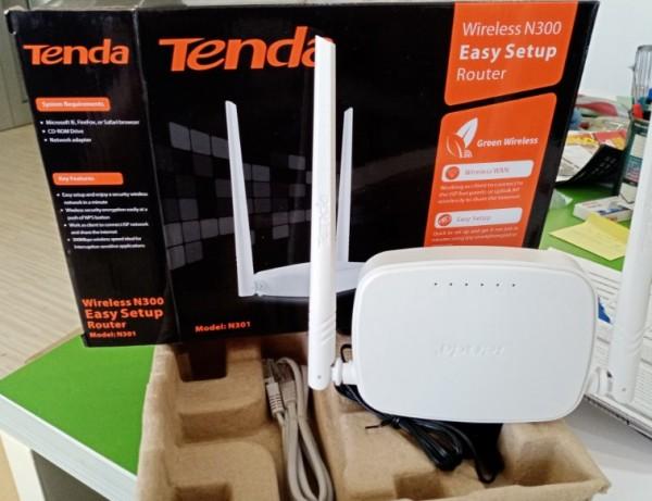 OUT - Tenda N301 Wireless N300 Ruter, WISP/univ. repeater/WDS-bridge/client+AP/WPS, 3L/1W 2x5dB 24