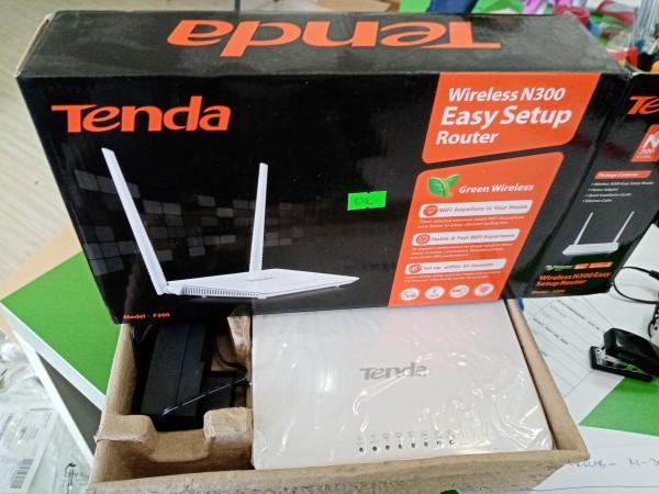 OUT - Tenda F300 Wireless N300 Ruter, WISP/WDS-bridge/AP/WPS, 4L/1W fixed antenna 2x5dBi 19