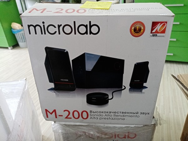 OUT-Microlab M-200 * Aktivni drveni zvucnici 2.1  40W RMS(16W, 2x12W) kabl-daljinski, 3.5mm 27