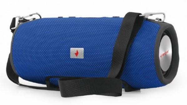 SPK-BT-06-B Gembird Portable Bluetooth speaker 2x5W USB, SD with powerbank function, blue FO