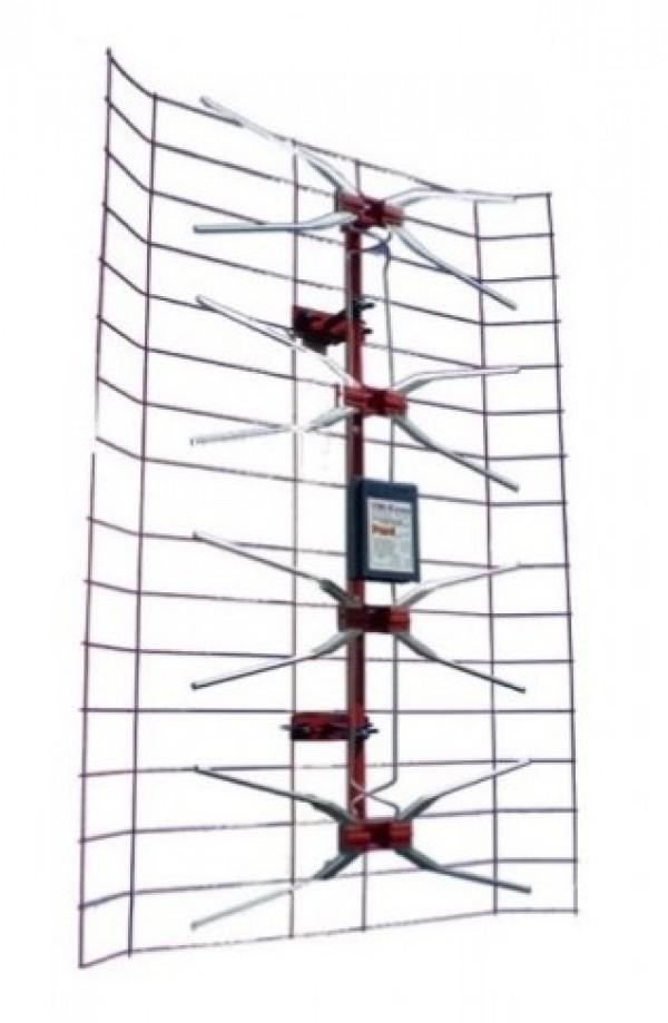 Antena TV panel V2.0 Spoljna sa pojacalom, 15-32db, UHF/VHF/DVB-T2