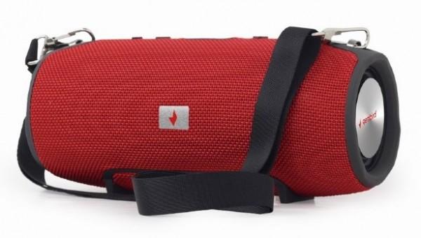 SPK-BT-06-R Gembird Portable Bluetooth speaker 2x5W USB, SD with powerbank function, red FO