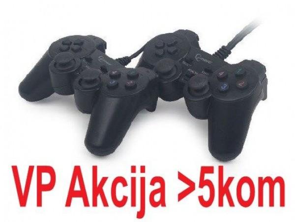 JPD-UDV2-11 ** Gembird USB 2.0 double analog vibration gamepad black (559)