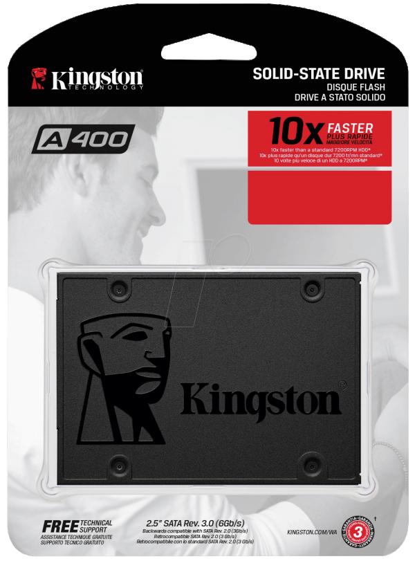 SSD Kingston 120GB A400, 500/320MB/s, SA400S37/120G