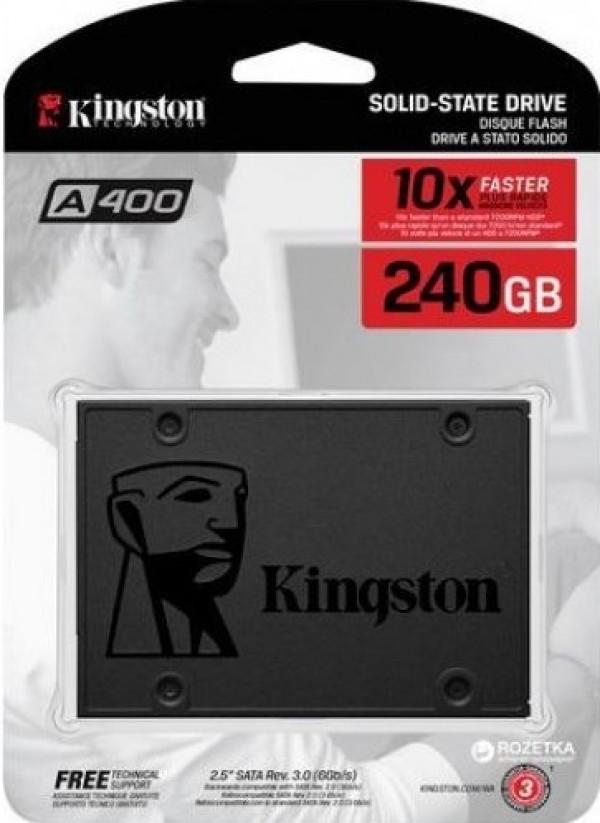 SSD Kingston 240GB A400, 500/350MB/s, SA400S37/240G