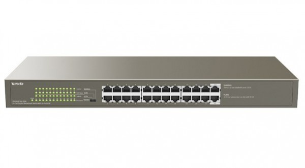 Tenda TEG1124P-24-250W LAN 24-Port 10/100/1000M Base-T Ethernet ports Desktop or rack mount switch