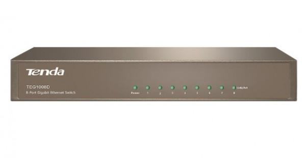 Tenda TEG1008D LAN 8-Port 10/100/1000M Base-T Ethernet ports (Auto MDI/MDIX) (alt=G1008)