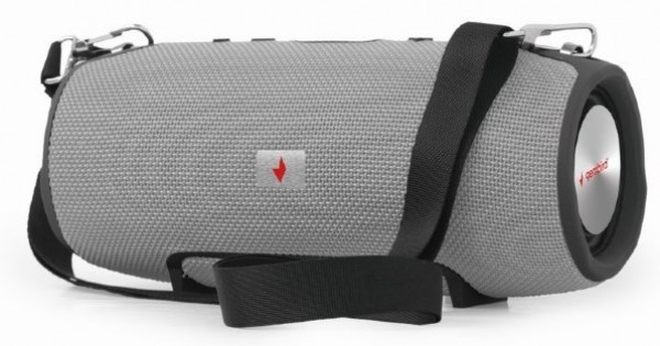 SPK-BT-06-GR Gembird Portable Bluetooth speaker 2x5W USB, SD with powerbank function, grey FO