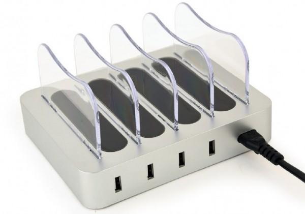 EG-U4C4A-01 Gembird 4-port USB punjac za istovremeno punjenje 4 uredjaja, 4.1 A, 20W