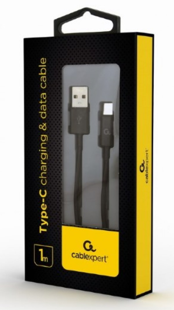 CC-USB2P-AMCM-1M Gembird Type-C charging and data cable, 1m, black