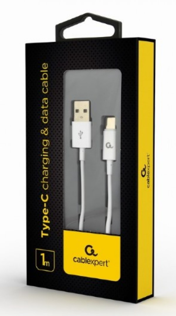 CC-USB2P-AMCM-1M-W Gembird Type-C charging and data cable, 1m, white