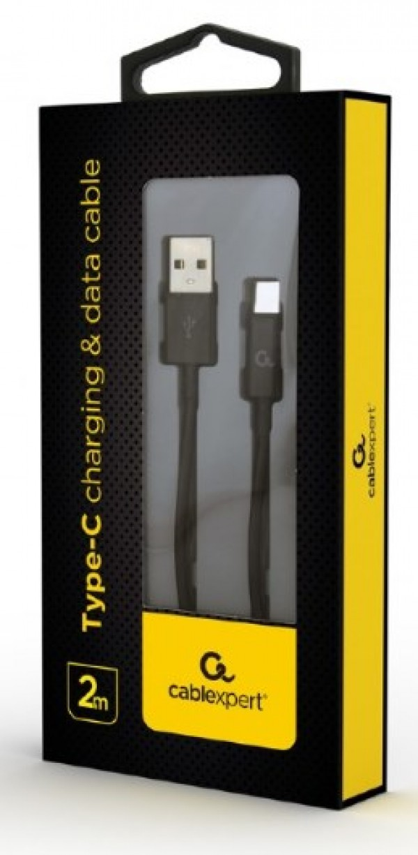 CC-USB2P-AMCM-2M Gembird Type-C charging and data cable, 2m, black