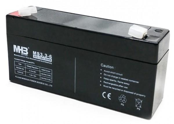 BAT-MHB MS 3.3-6 6V, 3.3Ah olovna AGM VRLA baterija bez odrzavanja 134x34x67mm