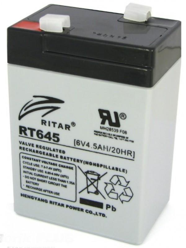 BAT-RITAR RT645 6V 4.5Ah olovna AGM VRLA baterija bez odrzavanja 70x47x100mm