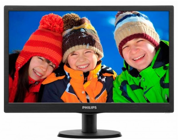 Monitor 18.5'' Philips 193V5LSB2/10, LED, 1366x768 (HD Ready), 5ms, VGA