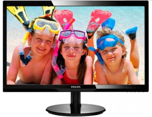 Monitor 23.5'' Philips 243V5LHAB/00, LED, 1920x1080 (Full HD) 1ms, VGA/DVI/HDMI Zvuenici