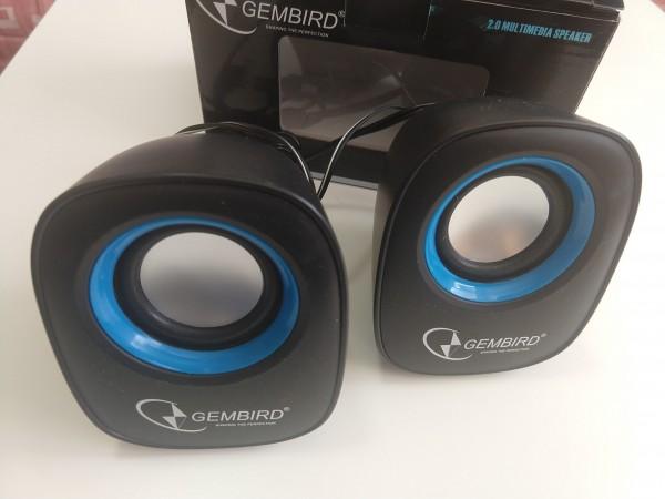 OUT - SPK-111 ** Gembird Stereo zvucnici black/black, 2 x 3W RMS USB pwr, 3.5mm kutija sa prozorom