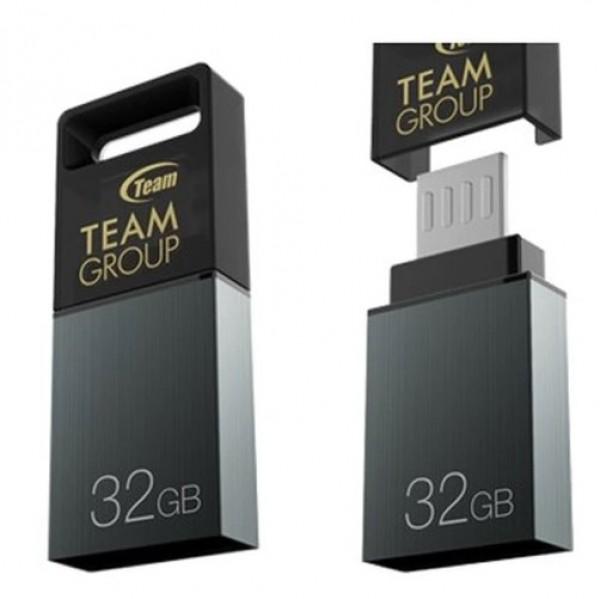 TeamGroup M151 DRIVE 32GB USB 2.0 + microUSB GRAY TM15132GC01