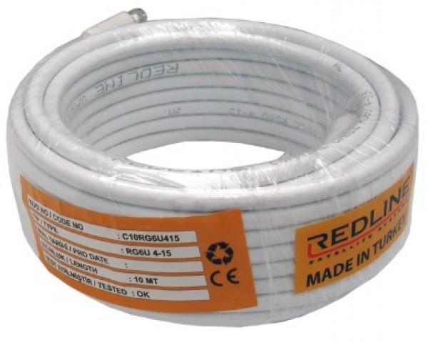 kabl-Koaksialni C-10  RG6/90db indoor white - 10m