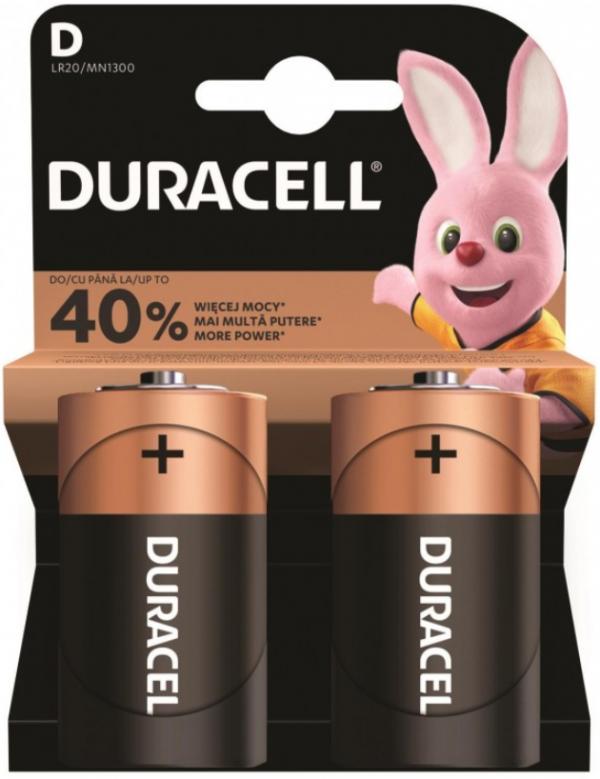 Duracell Tip D 1.5V LR20 MN1300, PAK2 CK, ALKALNE baterije - najdeblje
