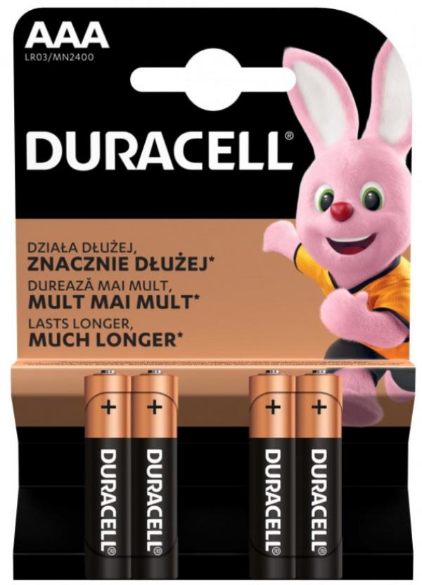 Duracell AAA 1.5V LR3 MN2400, PAK4 CK, ALKALNE baterije duralock