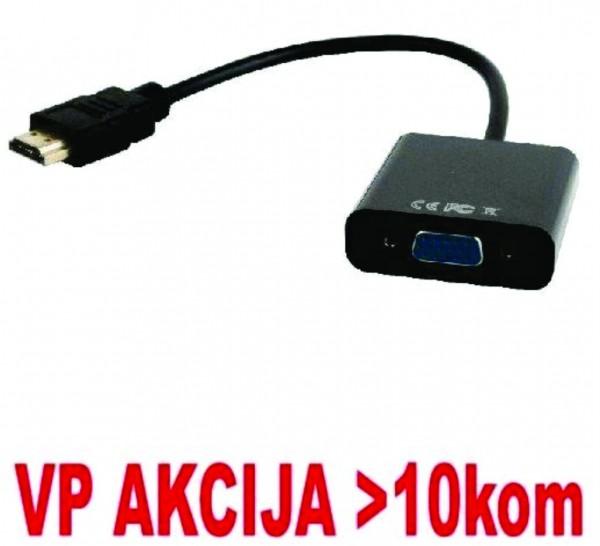 A-HDMI-VGA-04 ** Gembird HDMI to VGA adapter cable, single port, black (399)
