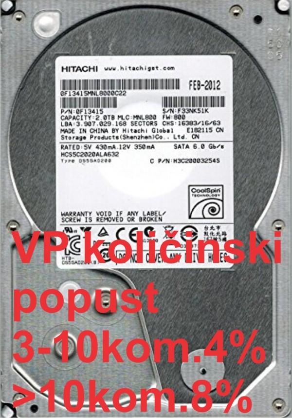 HDD 3.5'' ** 2TB HUS724020ALA640 Hitachi 7200RPM 64MB SATA3