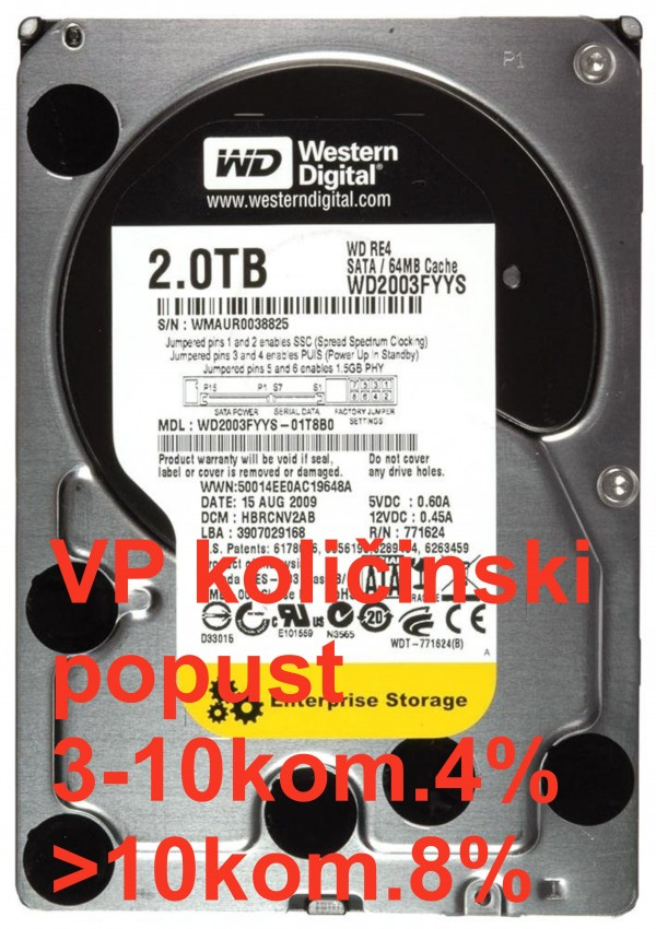 HDD 3.5'' ** 2TB WD2003FYYS  WD RE4 7200RPM 64MB SATA