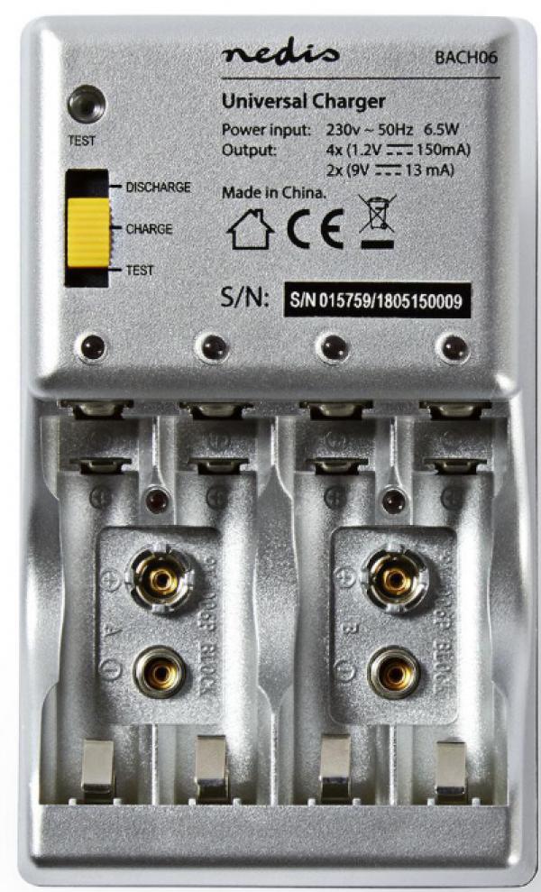 BACH06 Punjac baterija NiMH Battery Charger AA/AAA/9V