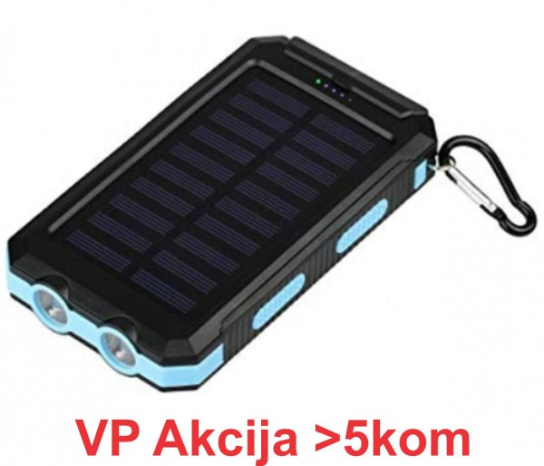 HRD-T12 ** Gembird solar power bank 12000mAh 2xUSB, LED, kompas (899)