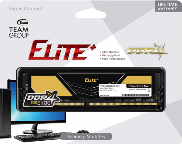 TeamGroup * DDR4 TEAM ELITE PLUS GOLD UD-D4 8GB 3200MHz 1,2V 22-22-22-52 TPD48G3200HC2201 (3169)