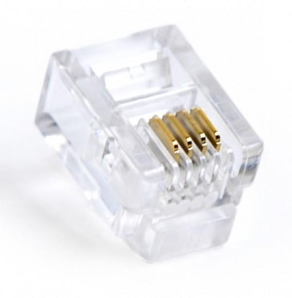 MP-6P4C/100 Gembird telefonski konektor plug 6P4C 100kom